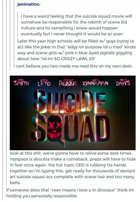 Once again it's gonna be those weird freak anime kids.....