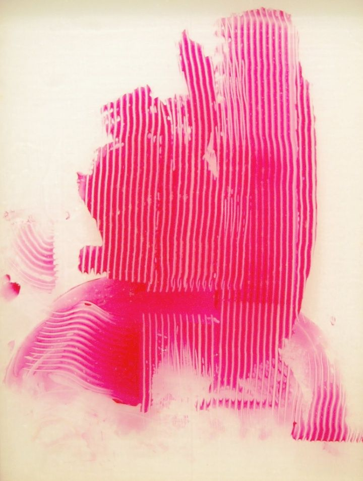 hot pink, Sigmar Polke - Untitled (Lens Painting), 2008
