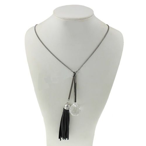 Buy Crystal & Tassel Necklace for R180.00