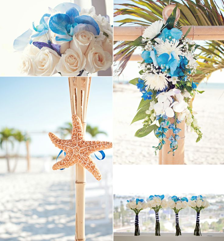 173 best Beach Wedding Flowers images on Pinterest | Centerpieces ...
