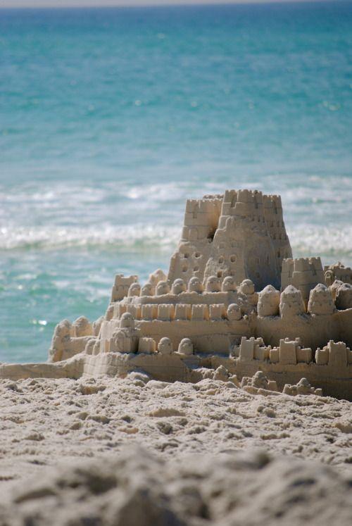 Summer Fun ~ Building sand castles on the beach