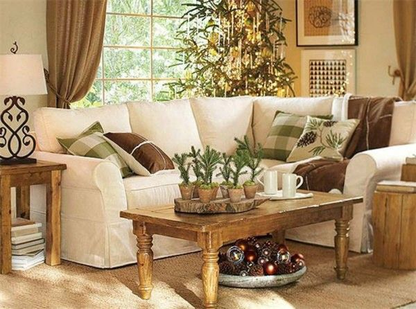 Natural theme interior decorating living room with plants Better homes and gardens living room ideas