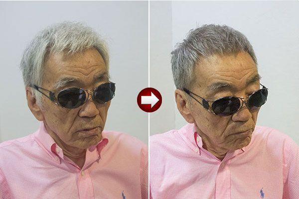 グレイヘア スタイル の新たな提案 カラフルヘア グレイヘア メンズ ヘアスタイル