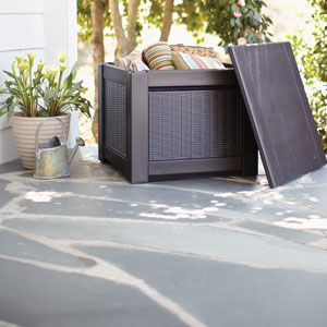 Rubbermaid deck boxes for patio storage
