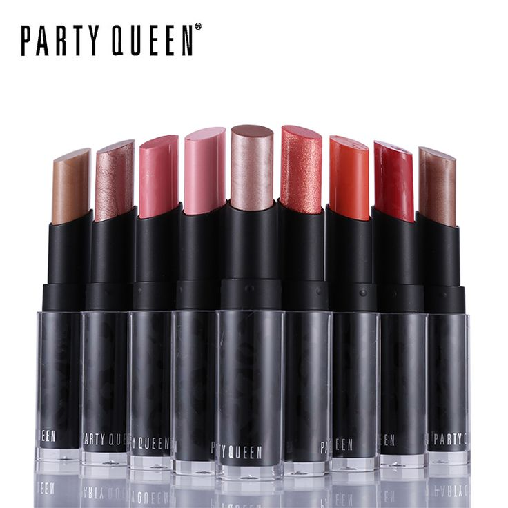 Party Queen Pop Glittery Rose Gold Fruity Lipstick 12 Metallics Creamy Luxury Bold Color Batom Makeup Long Lasting Charmed Lips *** This is an AliExpress affiliate pin.  Detailed information can be found on AliExpress website by clicking on the VISIT button