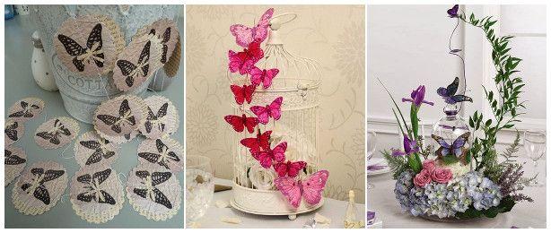Matrimonio Tema Farfalle : Centrotavola ghirlanda con farfalle al matrimonio