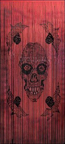 Red - Skull - Painted Bamboo - Door Beads & 12 best Door beads images on Pinterest | Door beads Beaded curtains ...