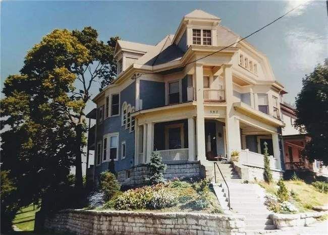 1899 Fixer Upper In Dayton Ohio Captivating Houses In 2020 Fixer Upper Dayton Ohio Built In Around Fireplace