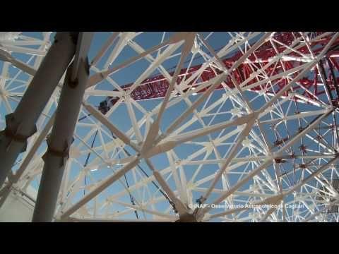 SRT Radiotelescopio montaggio paraboloide e quadrupode