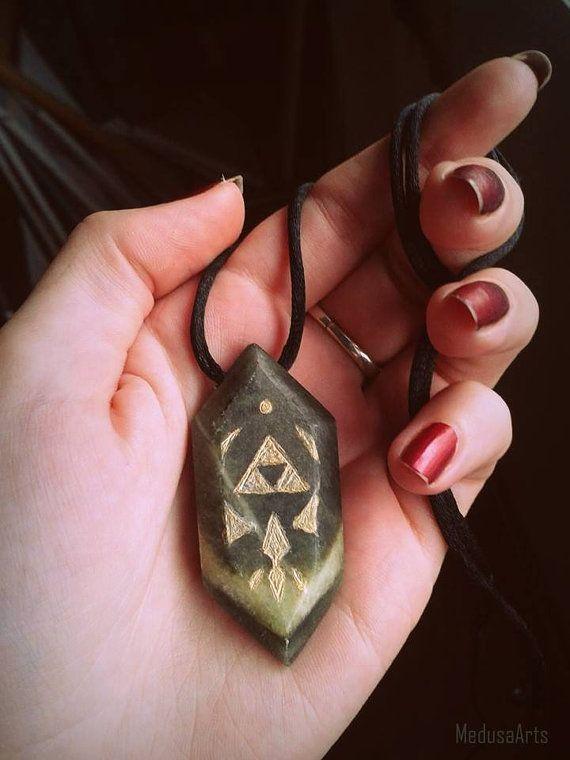 Handmade Legend of Zelda Rupee Pendant  Gold on by MedusaArts, $25.00