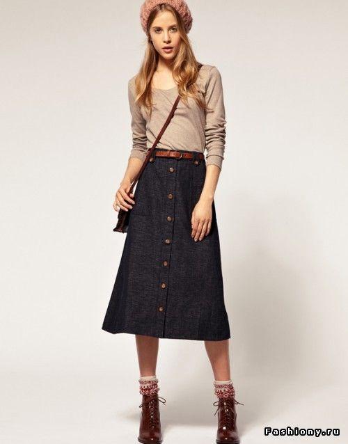 Опасная юбка-миди / фасоны длинных юбок