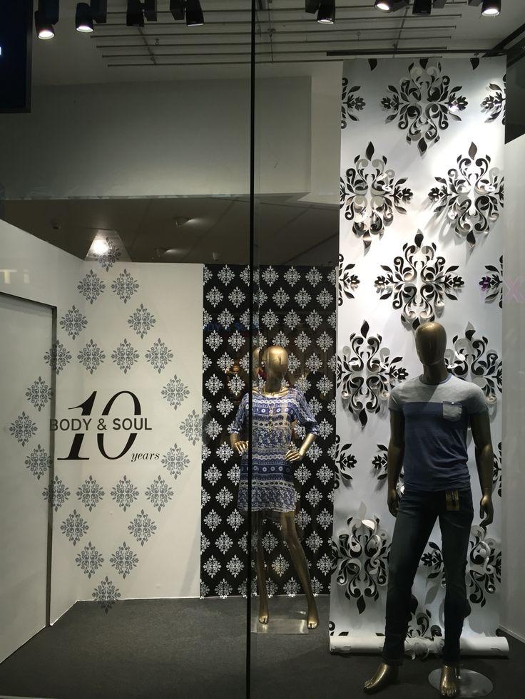 Anniversary window display