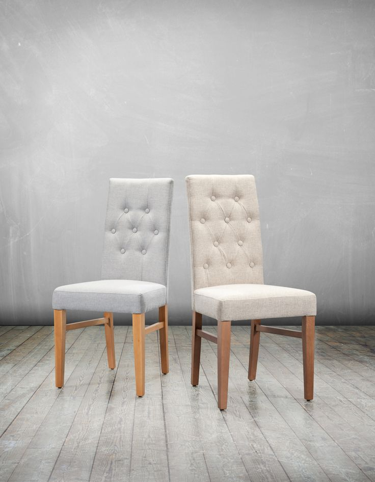 Our gorgeous Santa and Cruz button back dining chairs would look great in any kitchen or dining room. The linen effect fabric comes in 25 fab colours! Currently in our Summer Sale for just £99 each! Shop now: http://ow.ly/AbtYs #diningchairs #interiordesign #home #linen #kitchen #diningroom
