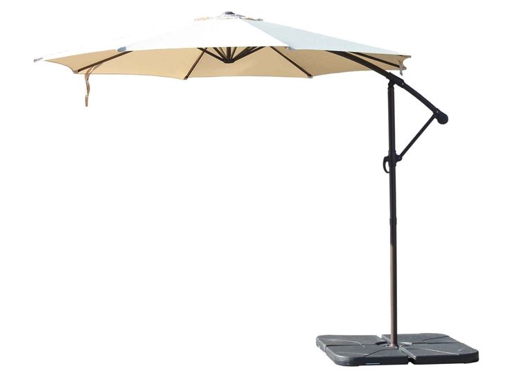 Rotating Cantilever Parasol and Plastic Base - Chocolate