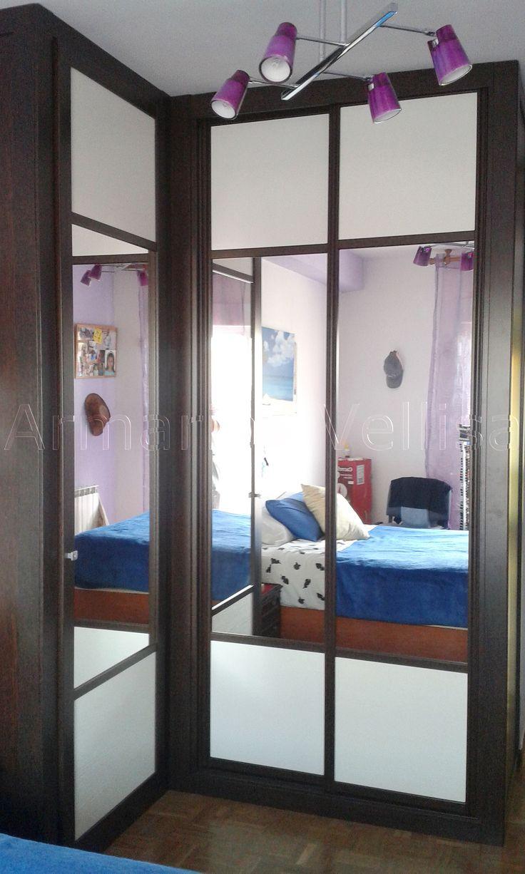 Las 25 mejores ideas sobre puertas de armario con espejos for Espejos habitacion juvenil
