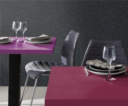 Polyrey collection inspiration luxe #neobaroque Décor S033 Strass noir , U022 ultraviolet, R047 rouge griotte #stratifie #laminate