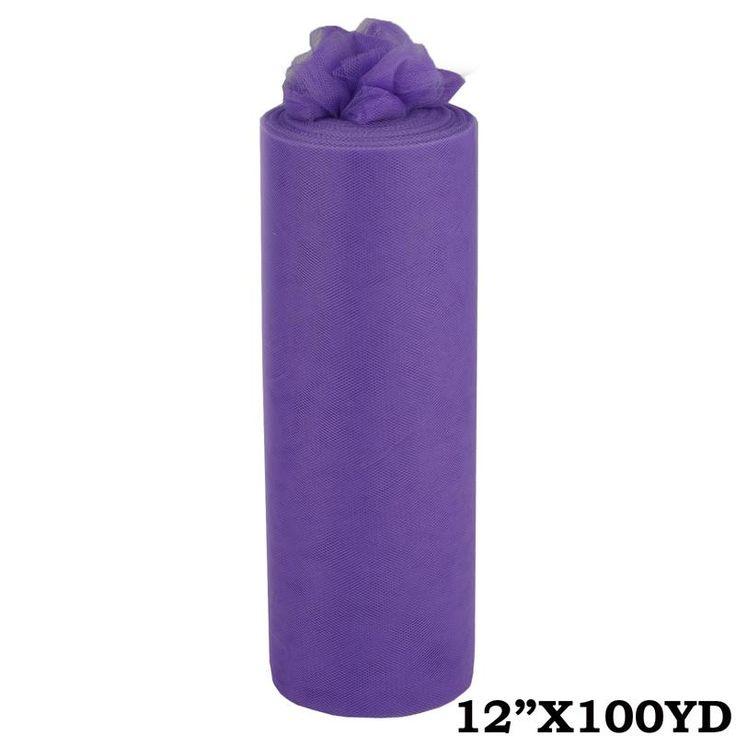 """12""""x100yd Tulle Rolls - Purple   eFavorMart"""