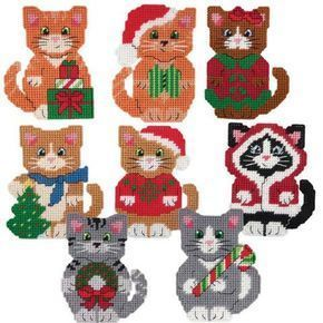 Herrschners® Christmas Kittens Ornaments Plastic Canvas Kit