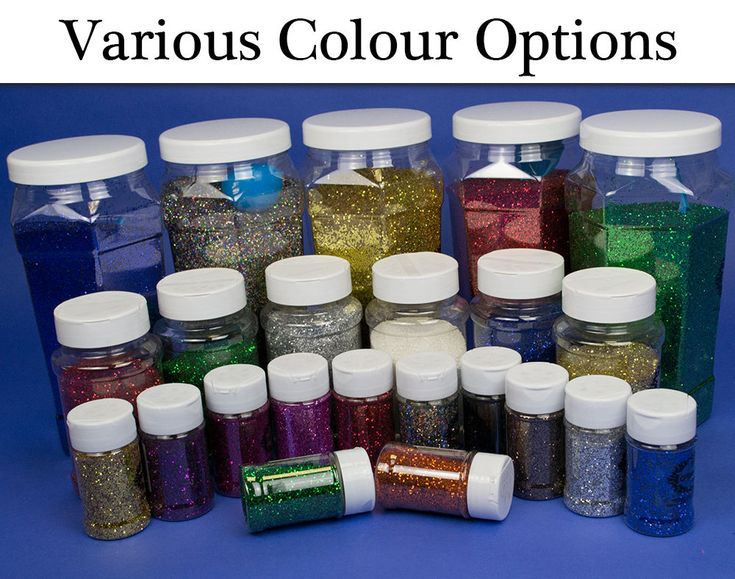 Very versatile glitters for many craft projects for kids, these are a great quality too. With a wide choice of sizes and colours, choose from the following options.60g pots (sprinkler on top), 250g pot (pour on one side and sprinkle option on lid), 1kg tub (plastic scoop for sprinkling included). | eBay!