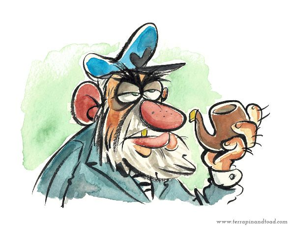 Terrapin and Toad: Sketchbook doodles - Sea Captain