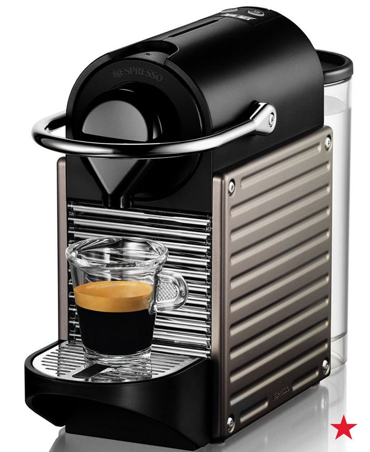 A compact espresso maker that packs as much of a punch as your favorite morning pick-me-up... yes, please! Bonus: It's a sleek addition to your kitchen counterop (and it includes 16-capsule sample packs of Nespresso coffee pods). Shop now!
