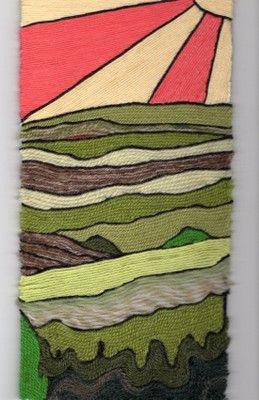 Life is art ... Art is Life: Friend's Art ~ Inspiring Yarn Painting