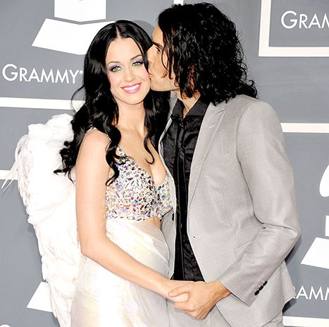 Katy Perry and Russell Brand arrive at The 53rd Annual GRAMMY Awards in 2011.