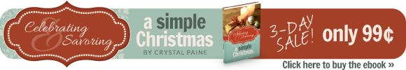 Celebrating & Savoring a Simple Christmas—Only 99 cents!  check it out!!! plus enter to win a free kindle!