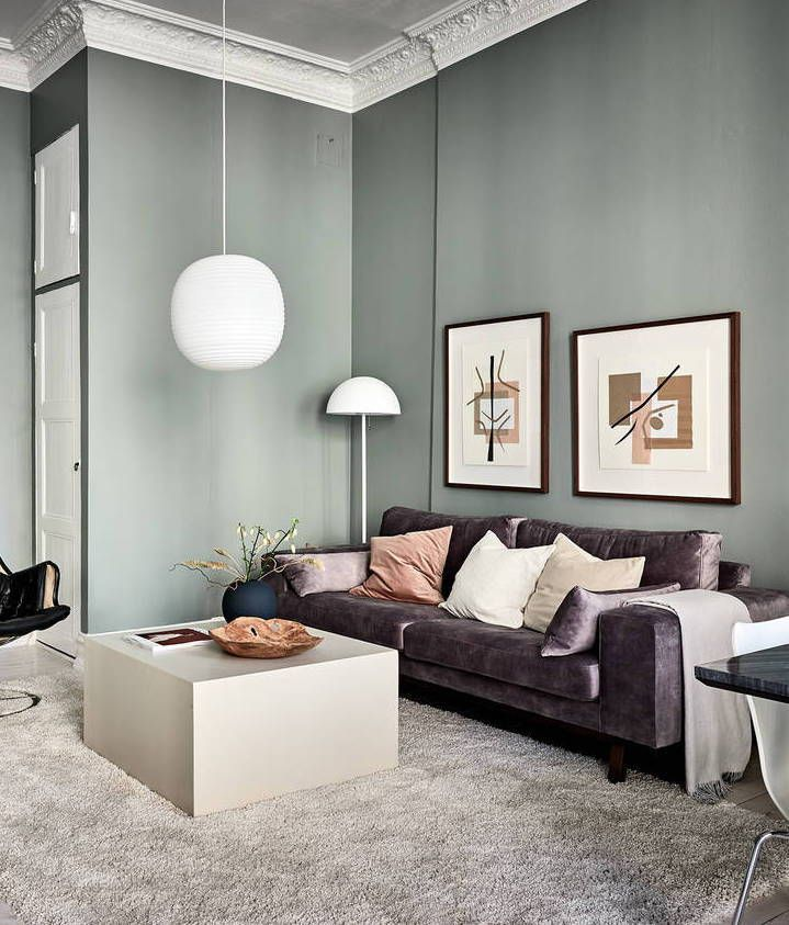 Home In Green And Grey Coco Lapine Design Living Room Green Sage Green Living Room Tan Living Room