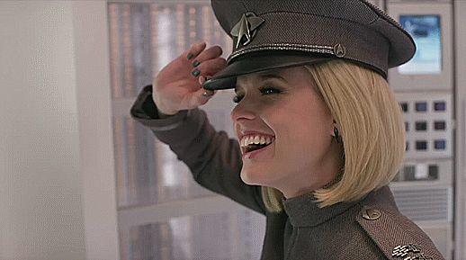 Alice Eve as Lt. Carol Marcus (gif) in formal dress uniform