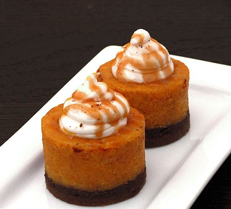 Spiced pumpkin cheesecake with bourbon whip cream.