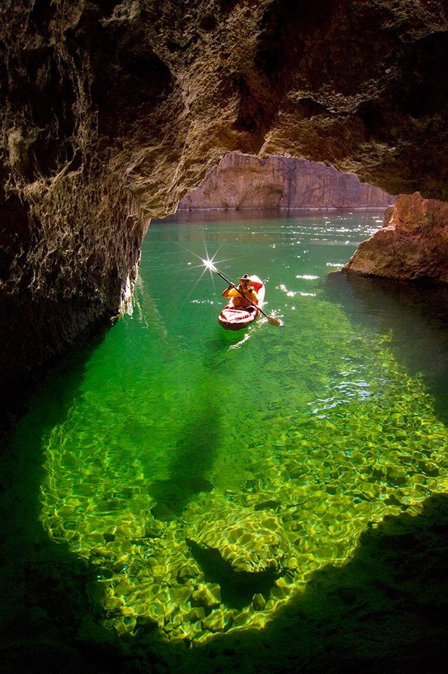 Emerald Cave, Lake Powell, Arizona photo via george