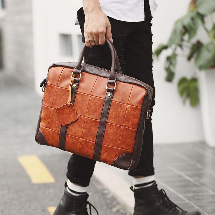 8c26502c2b99 Tidog Korean male Bag Satchel Handbag leisure Vintage Computer Briefcase