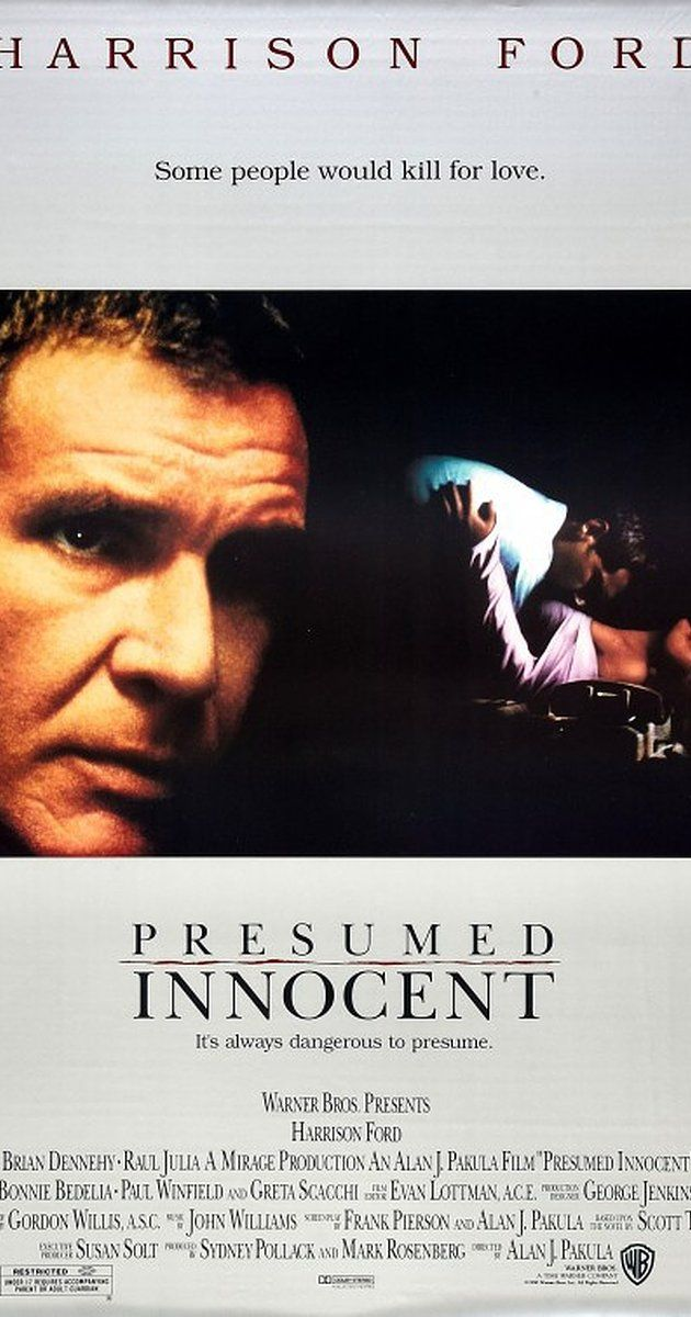 Directed by Alan J. Pakula.  With Harrison Ford, Raul Julia, Greta Scacchi, Brian Dennehy. When the female deputy prosecutor R.K. Sabich had an affair with is murdered, he is chosen to lead the investigation. However, when he digs too deeply, he finds himself framed for the murder.