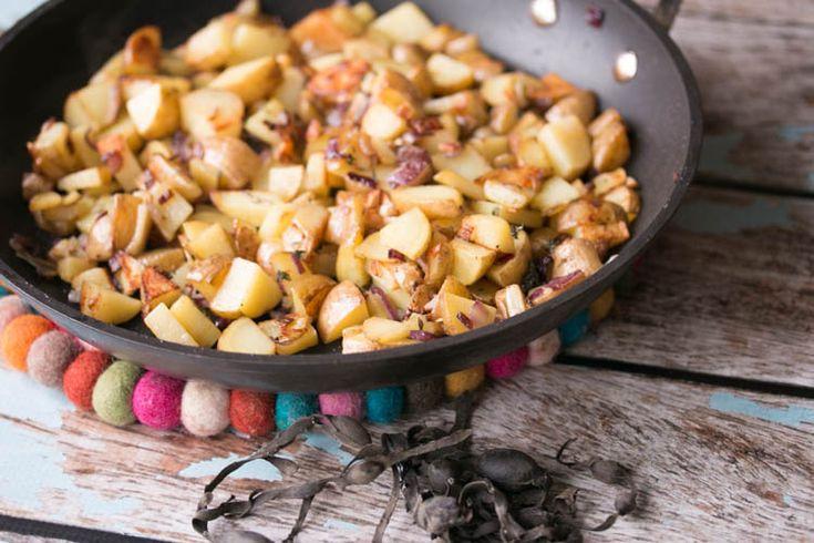 Zilte gebakken aardappels