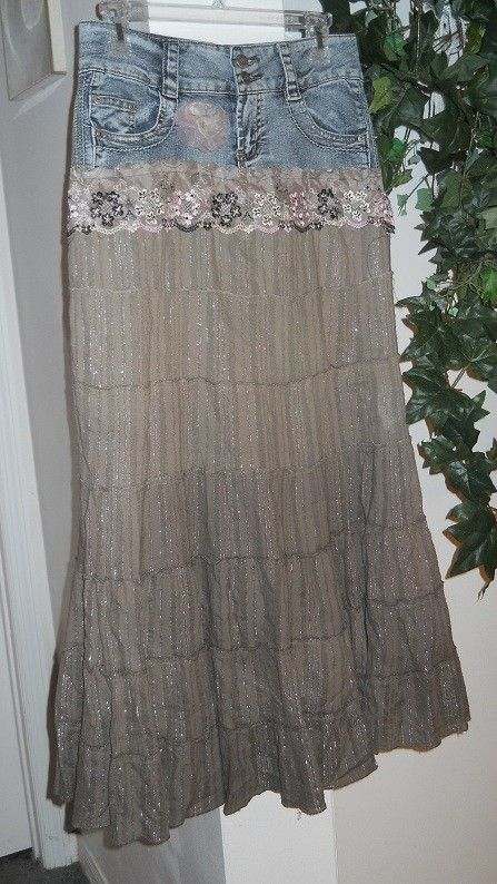 Mocha Rose True People taupe silk vintage lace  by bohemienneivy, $62.00