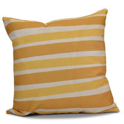 "The Holiday Aisle Hanukkah 2016 Decorative Holiday Striped Throw Pillow Size: 18"" H x 18"" W x 2"" D, Color: Gold"