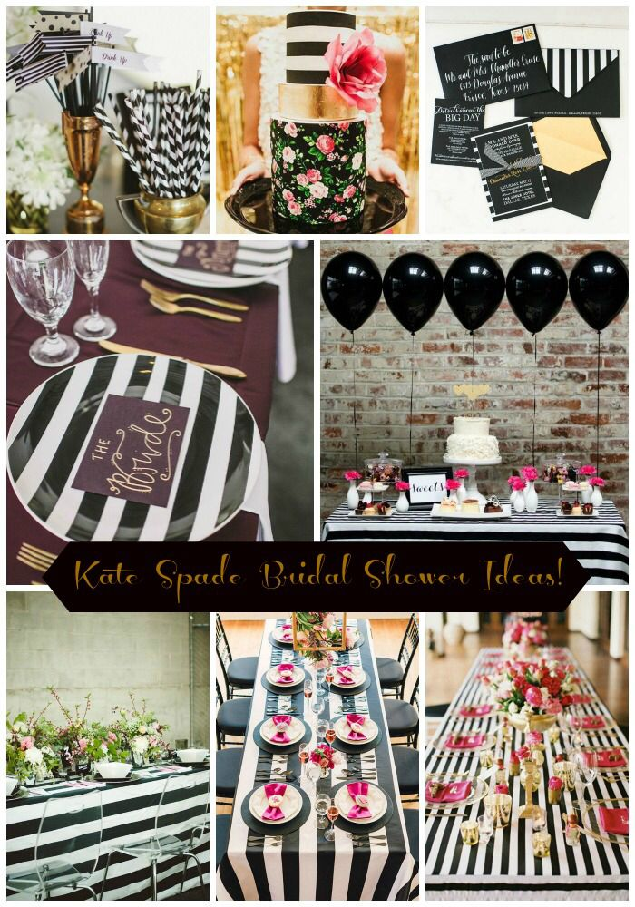 pink black and white bridal shower invitations%0A A Kate Spade Inspired Bridal Shower at www sandyssignatures com