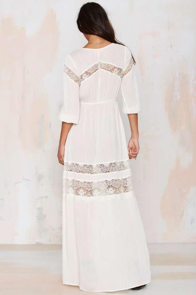 Wistful Thinking Lace Maxi Dress - Midi + Maxi