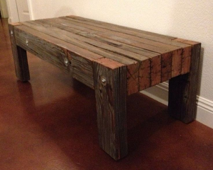 Industrial Retro Large Heavy Duty Douglas Fir Coffee Table Rustic Coffee Tables
