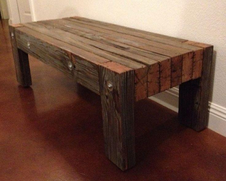 Industrial retro large heavy duty Douglas fir coffee table