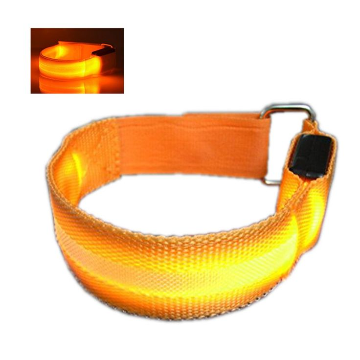 Orange LED Safty Armband,Dealzip Inc High Visibility Flashing Reflective Blinky Flexible LED Lights Armband Bracelet Belt Wristband for Night Sports Walking Jogging Running Cycling. Finished with High quality durable material: Nylon strap and LED light. 2PCS CR2032 Button Battery Powered (pre-installed & Replaceable). The Lighting Time up to 60-80 Hours, 2-3 Monthes for normal use. 3 Modes: bright steady light, slow flashing, fast flashing. Excellent LED Armband for people to do outdoor...