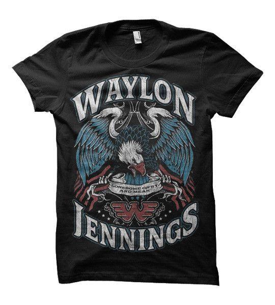 Waylon Jennings Eagle Women's Tee Shirt