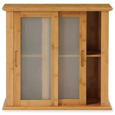 Bamboo Wall Cabinet Tropic W Glass Door Jcpenney 22 1
