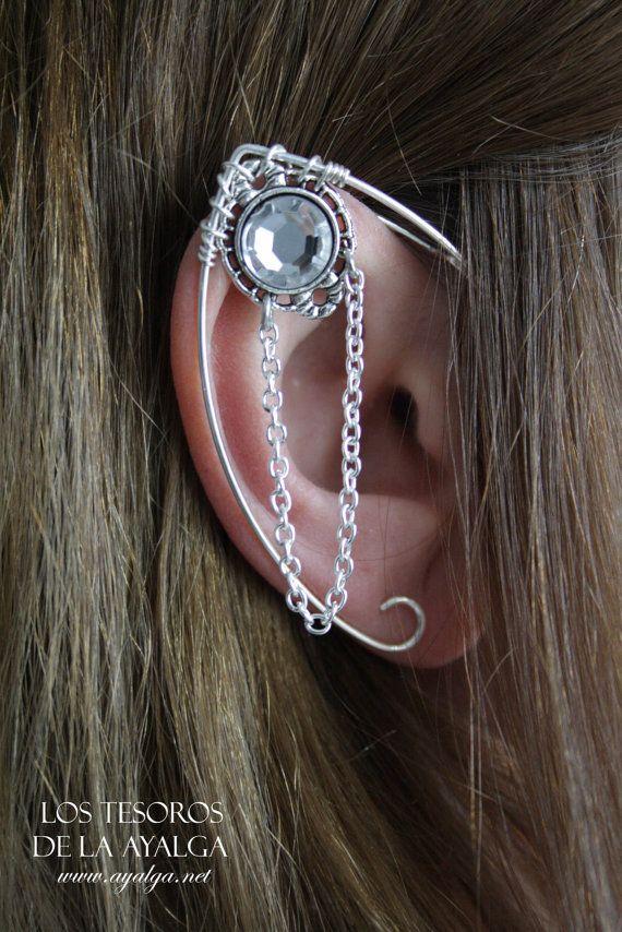 silvered elven ear   ear cuff  elvish earring  elf ear  by Ayalga, €7.00 Arwen costume?(?)