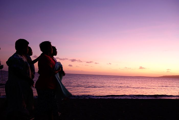 Like violet in the sky... Sunset on Saturday was beautiful.. photo taken along Mele beach, Efate island.
