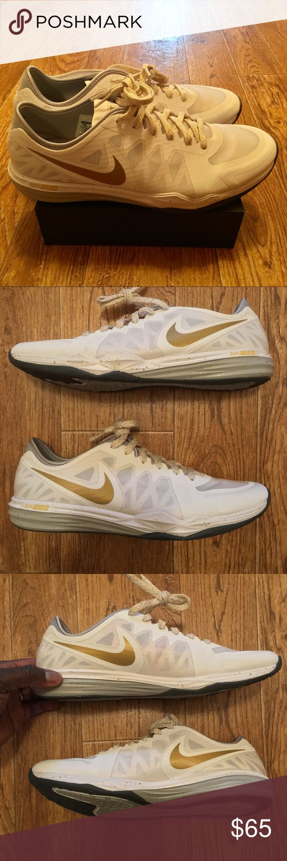 [Nike] Dual Fusion TR3 Women's Running Shoes Sz9.5 NEW Nike Dual Fusion Women Running Shoes White/Gold Size 9.5 Nike Shoes Athletic Shoes