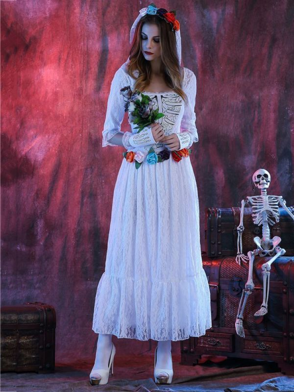 Halloween corpse white bride lace cosplay costume adult women party dress party dresses seattle #h #and #m #party #dresses #party #dresses #12-18 #months #party #dresses #queens #xmas #party #dresses