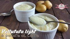 Vellutata+light+di+patate+al+latte+(210+calorie)