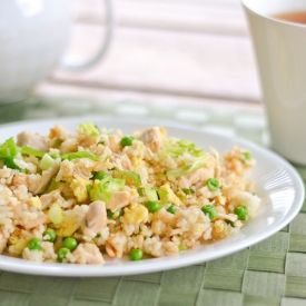 Simple, easy and quick chicken fried rice